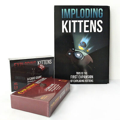 Exploding Kittens Card Game ORIGINAL, NSFW Edition&Imploding Kittens Party Game
