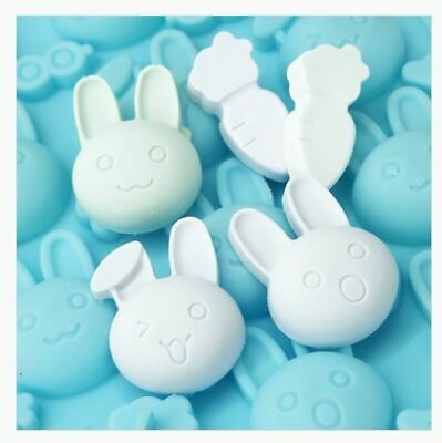 Rabbit  (a lot) multii Silicone soap Mould plaster Mold
