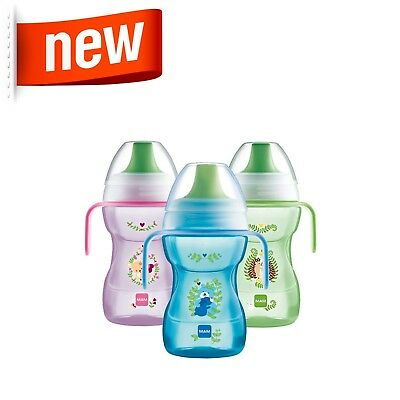 Mam Fun To Drink Baby Free Flow Cup 270ml with Handles│Non Spill│BPA Free