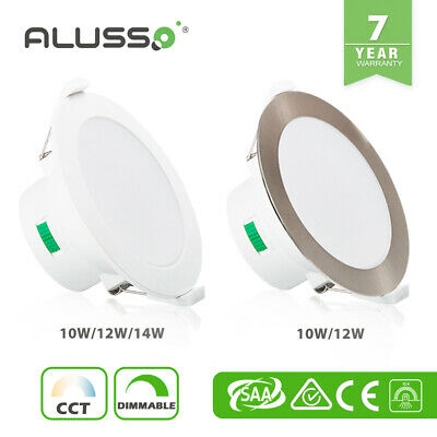 ALUX SMD LED Downlight Kit 10W 12W 14W Dimmable Warm Cool CCT Tri Colour