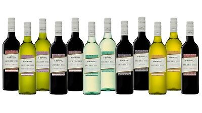 White & Red Wine Mixed Sacred Hill Pack Big Brand Special 12x750ml Free Delivery