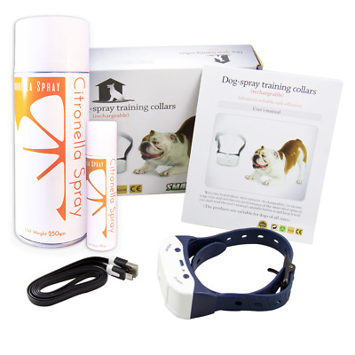 Bark Collar - Citronella Spray - Rechargable, Waterproof, Refillable E Collar