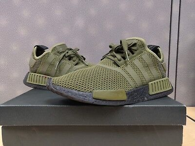 73c68d918 Pre owned Adidas NMD R1 jd sports exclusive size 10 olive black AQ1246
