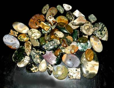 Wholesale Lot Natural Multi Color Ocean Jasper Cabochon Loose Gemstone