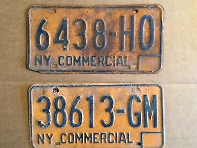 Vintage 1970's New York License Plate *NICE* (2) COMMERCIAL