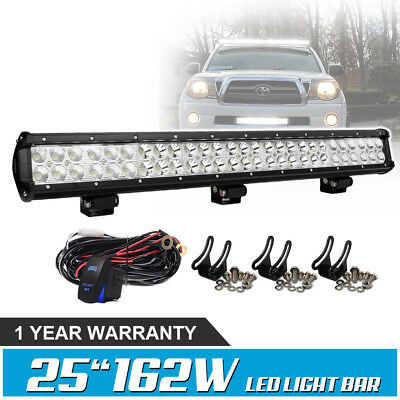 25inch LED Light Bar 162W Spot Flood For SUV UTE Truck Jeep Ford Offroad Slim