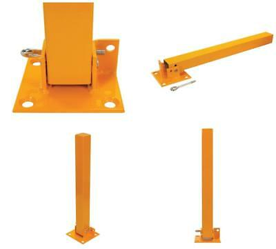Clearance Line Fold Down Steel Security Post Car Parks Driveway Car Security