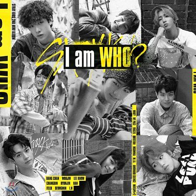STRAY KIDS [I AM WHO] 2nd Mini Album I AM Ver CD+PhotoBook+3Card+Poster(On)+GIFT