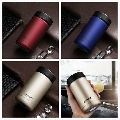 AU 400ml Stainless Steel Vacuum Flasks Hot Water Bottle Thermos Coffee Mug Cup