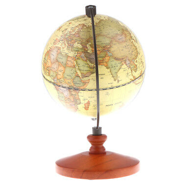 Rotating Desktop Globe World Earth Ocean Map Geography Educational Toy Decor