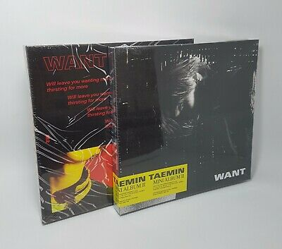 K-POP SHINEE TAEMIN 2nd Mini Album [WANT] 2Ver SET CD+Booklet+Photocard+Paper