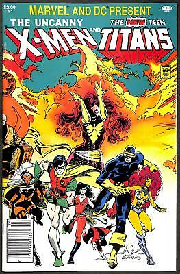Marvel And DC Present: The Uncanny X-Men & The New Teen Titans #1 VFN (Newstand)