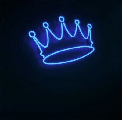 New Crown Blue Neon Sign Wall Decor Artwork Light Lamp Display Poster