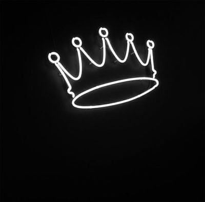 New Crown White Neon Sign Wall Decor Artwork Light Lamp Display Poster