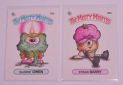 Melty Misfits Series 3 - Scratch-n-Sniff cards - Buff Monster - Set of 2