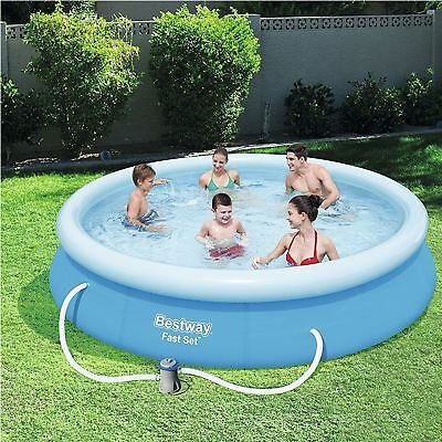 "Bestway Inflatable 12'x30"" Fast Set Family Round Paddling Swimming Pool ABW57274"