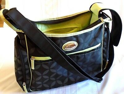 Baby Boom Diaper Bag Gray with Green Trim Lightly Used Babyboom NICE