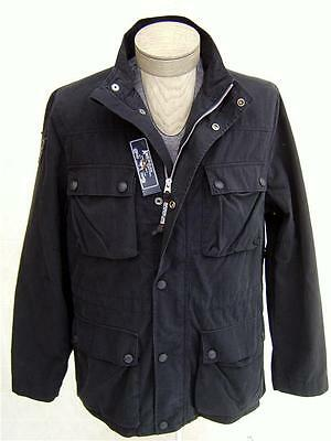 American Living Men's Cargo Field Trucker Jacket Zip Button Coat Lined Black XL