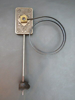 Vintage HAC mantel clock chime gong with metal coil spares parts