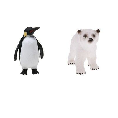 Realistic Animal Figurine Model Action Figure Kid Toy Polar Bear Penguin