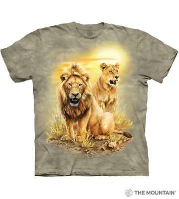 Lion Pair T-Shirt By The Mountain. 100% Cotton Tee Shirt