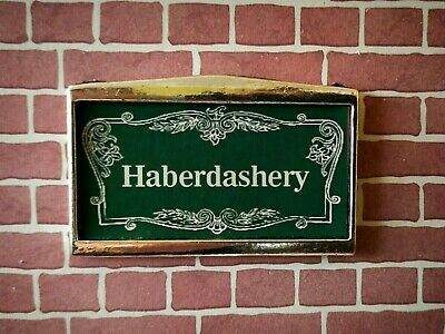 HABERDASHERY metal shop SIGN for dolls house vintage 1:12th scale UK DH4