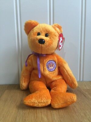 Ty Beanie Babies Collection Bear Celebrations Queens Jubilee Bear With Tag 7ea440f75270