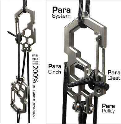 2x Edc Pulley Multitool Carabiners Stainless Prepper  Bushcraft & Survival UK