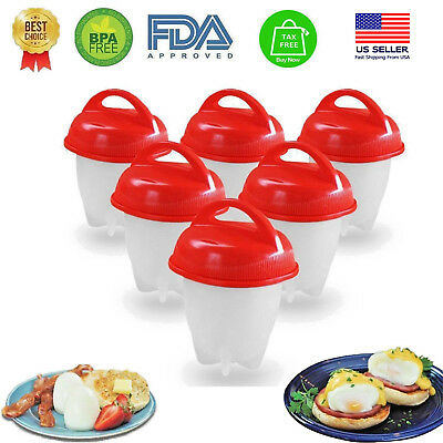 Egglettes Egg Cooker Hard & Soft Boiled Eggs without Shell 1-6 pics Eggies cup