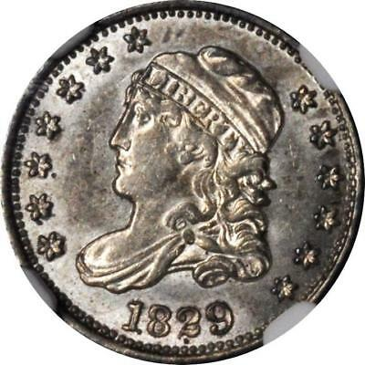 1829 H10C Capped Bust Half Dime / NGC MS62