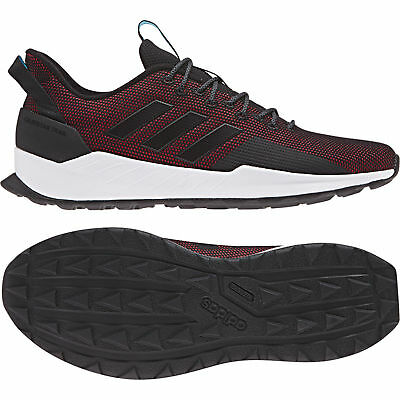 ae6b126f5 ADIDAS QUESTAR TRAIL Black BB7382 Running Shoes Size UK 8   8.5 ...