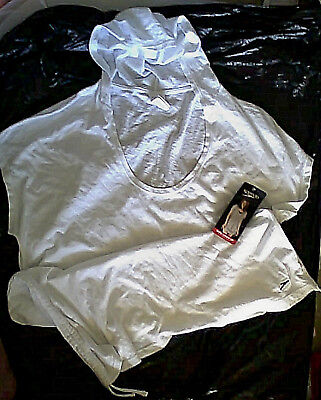 2411a12a7074a NEW NWT Speedo Women s Hooded Swim Cover Up Adjustable Length White L robe