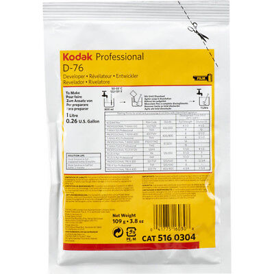 Kodak D-76 Developer for Black & White Film (Powder) Makes 1 Liter - Exp. 2020