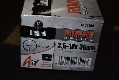 Bushnell Rimfire Optics A17 3.5-10x36mm Matte Multi-X Reticle NIB 613510A