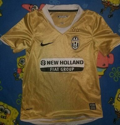 new arrival de109 354a8 NIKE JUVENTUS BIANCONARI gold Soccer Jersey New Holland Fiat Youth SMALL
