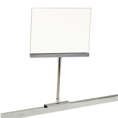 "Retail Rack Acrylic Frame Magnetic Base Sign Holder, 5.5"" x 7"" Card Display"