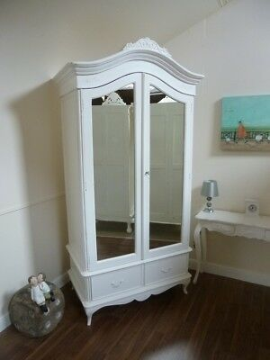 Charroux Double Armoire Wardrobe - Shabby Chic Style French Wardrobe