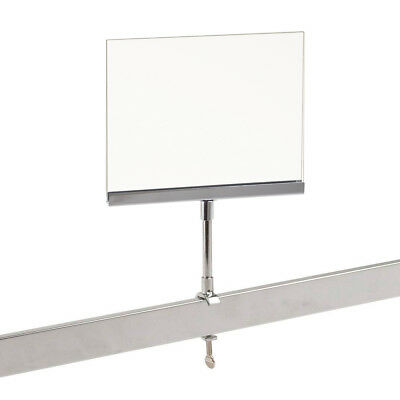 "Universal Retail Rack Acrylic Frame Clamp On 5.5"" x 7"" Sign Holder Card Display"