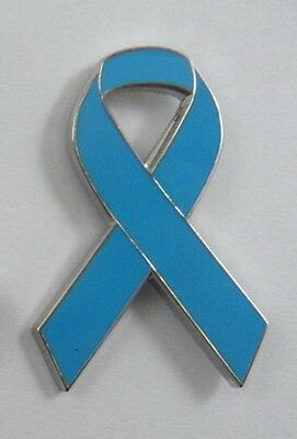 ***NEW*** Prostate Cancer Awareness ribbon enamel badge / brooch.Charity.