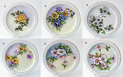 "Pintado a Mano Placa Flores Artista ""el ""Royalton China Porcelana Fabulace"