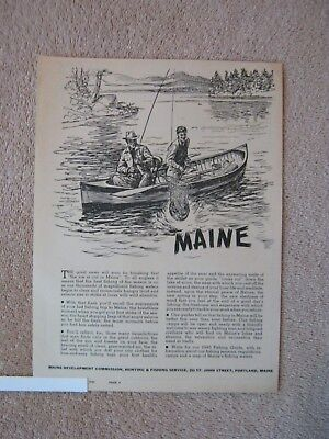Vintage 1945 Maine Fishing Trip Vacation Better than Ever Before Print Ad