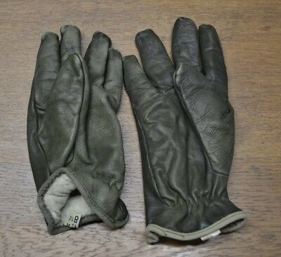 deb3dbcfc792f Paire De Gants Cuir Vert Armee Francaise Occasion Taille 8 1/2 (Taille  Moyenne