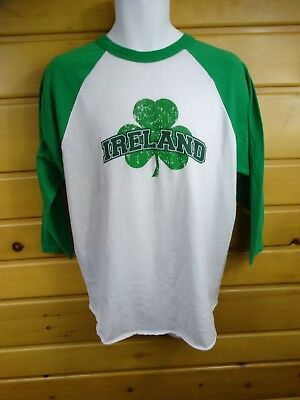 Ireland Long Sleeve T-Shirt ''irish  Sizes  Large Men's Low Price