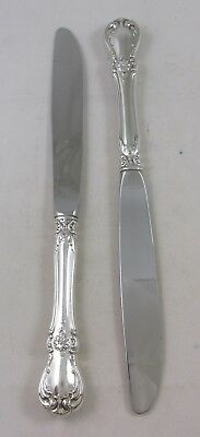 """Lot Of Two Towle Sterling Silver """"Old Master"""" Modern Hollow Handle Knives"""