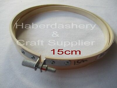 Birch Bamboo Embroidery Hoop 15Cm With Adjustable Screw
