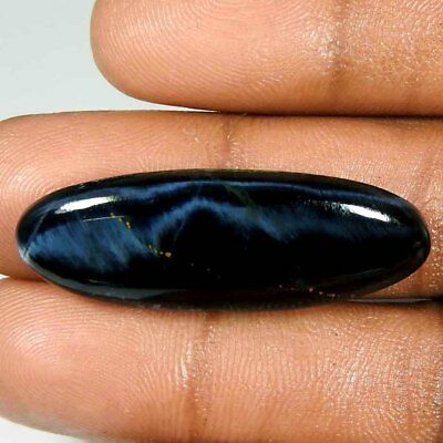 22.40Cts100%Natural Blue Power Pietersite Oval Cabochon Gemstone