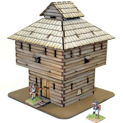 4Ground Terrain 28mm Log Timber Block House (Pre-Painted) Pack MINT