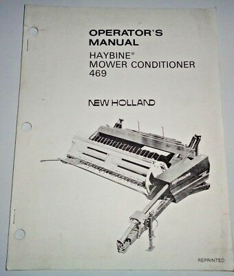 NEW HOLLAND 469 Mower Conditioner Parts Manual Catalog