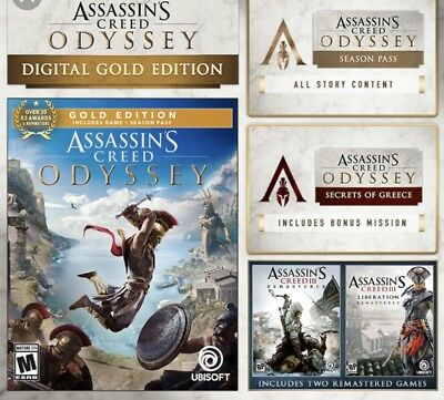 Assassin's Creed Odyssey Gold Edition (PC Digital)