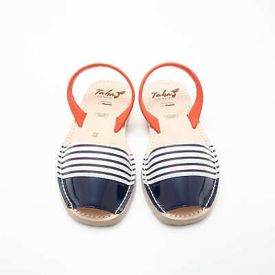 NEW Red White and Blue Nautical Stripe Sandals Women's by Taha Australia